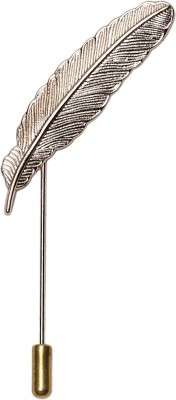 JamsSocks Feather Lapel Pin Carbon Steel Bullet Back Shirt Stud