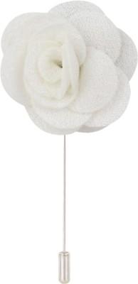 Eccellente LPLFLWR5WHT Cotton Sliding Pin Shirt Stud