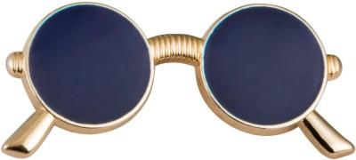 Avaron Projekt Handmade Blue and Gold Retro Sunglass Stainless Steel Sliding Pin Shirt Stud