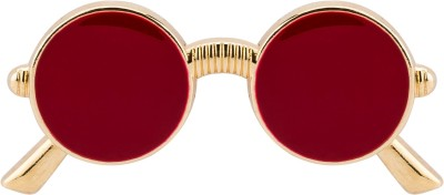 Knighthood Red Retro Sunglass Stainless Steel Screw Back Shirt Stud