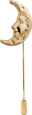 Knighthood Gold Moon Stainless Steel Sliding Pin Shirt Stud