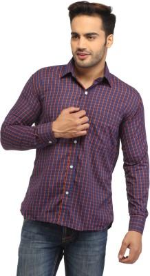 Pede Milan Men's Checkered Casual Blue, Orange Shirt