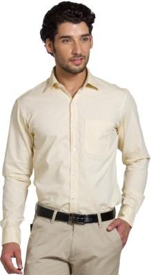 Klub Fox Men's Striped Casual Yellow Shirt