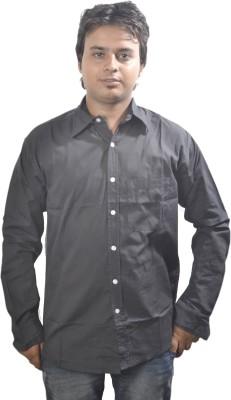 Scorpio Fashions Men's Solid Formal Black Shirt
