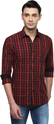 British Club Men's Checkered Casual Red, Black Shirt
