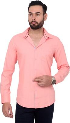 Urban Republic Men's Solid Casual Orange Shirt