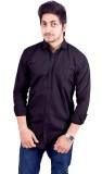 Hartmann Men's Solid Casual Black Shirt