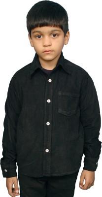 Fashion N Style Boy's Solid Casual Black Shirt