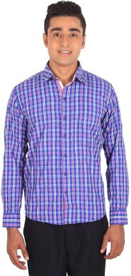 Henry Spark Men's Checkered Casual Purple Shirt
