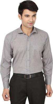 Forever19 Men's Solid Formal Grey Shirt