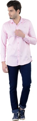 Piccolo Clothings Men's Striped Casual Pink Shirt