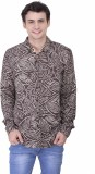 Oxolloxo Men's Printed Casual Brown Shir...