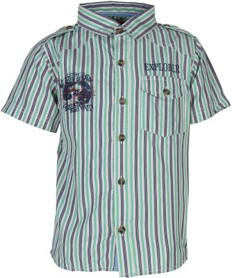 Silver Streak Boy's Striped Casual Multicolor Shirt