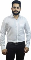 Aces Blue Formal Shirts (Men's) - Aces Blue Men's Solid Formal White Shirt