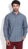 Lee Men's Solid Casual Blue Shirt