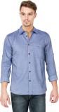 Slub by Inmark Men's Solid Casual Blue S...