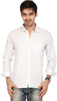 Acropolis Men's Polka Print Formal White Shirt