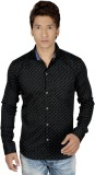 Red Touch Men's Printed Casual Black Shi...