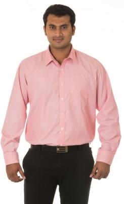 Nova Scottia Men's Striped Formal Pink Shirt