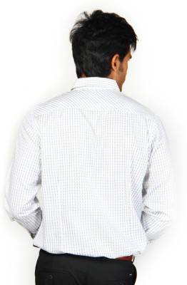 Provogue Men's Solid Formal White Shirt