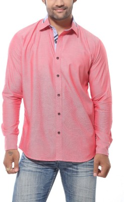 Roger Clothier Men's Solid Casual Red Shirt