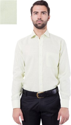 Tag & Trend Men's Solid Formal Green Shirt