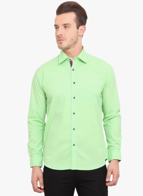 Zavlin Men,s Solid Casual Green Shirt