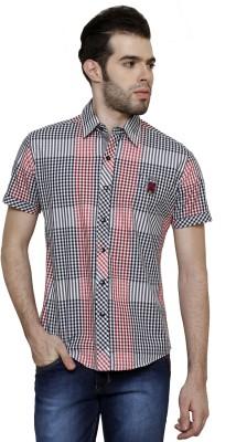 True Tittos Men's Checkered Casual Red, White, Black Shirt