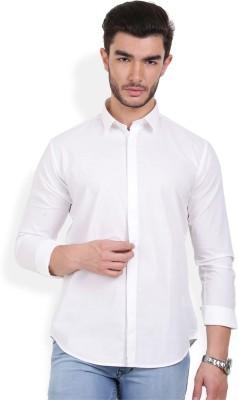 Urban Attire Men's Solid Casual White Shirt