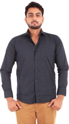 The G Street Men's Printed Casual Blue Shirt
