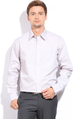 Arrow Mens Solid Formal Grey Shirt