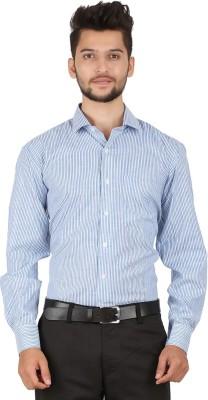 Stylo Shirt Men's Striped Casual Blue Shirt