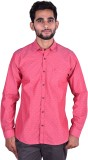 Cortos Men's Polka Print Casual Pink Shi...