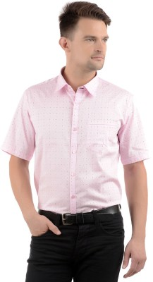Cairon Men's Printed Party Pink Shirt