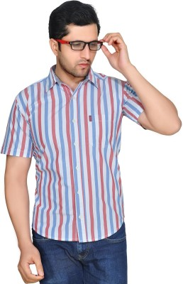 Ubho Core Men's Striped Casual White Shirt