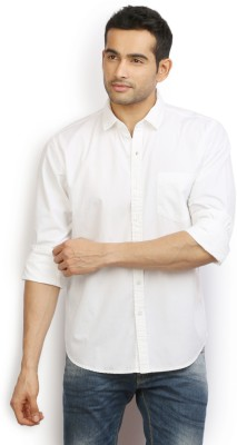 Ivoc Men's Solid Casual White Shirt