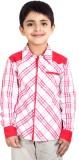 Naughty Ninos Boys Striped Casual Pink S...