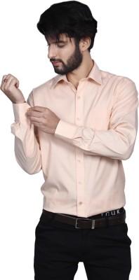 Yorkshire Men's Solid Formal Orange Shirt