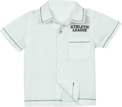 Mom & Me Baby Boy's Solid Casual White Shirt