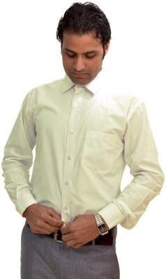 AVS Polo Men's Solid Formal White Shirt