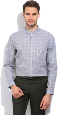 Arrow Newyork Men's Checkered Casual Grey Shirt