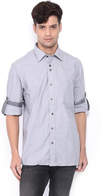 Nord51 Men's Solid Formal Grey Shirt