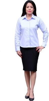 Change 360 Women's Solid Formal Blue Shirt