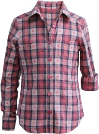 The Cranberry Club Girls Solid Casual Pink Shirt