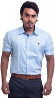 Pp Shirts Formal Shirts (Men's) - PP Shirts Men's Printed Formal Blue Shirt