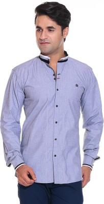 Rebel Men's Solid Casual Grey Shirt