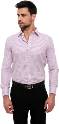 Jermyn Crest Men's Checkered Formal White Shirt