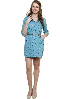Vastrasutra Women's Animal Print Formal Multicolor Shirt
