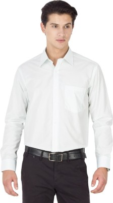 Kanva Men's Solid Casual White Shirt