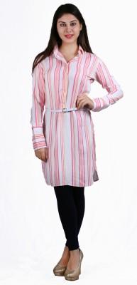 Lady Stark Women's Striped Casual Multicolor Shirt